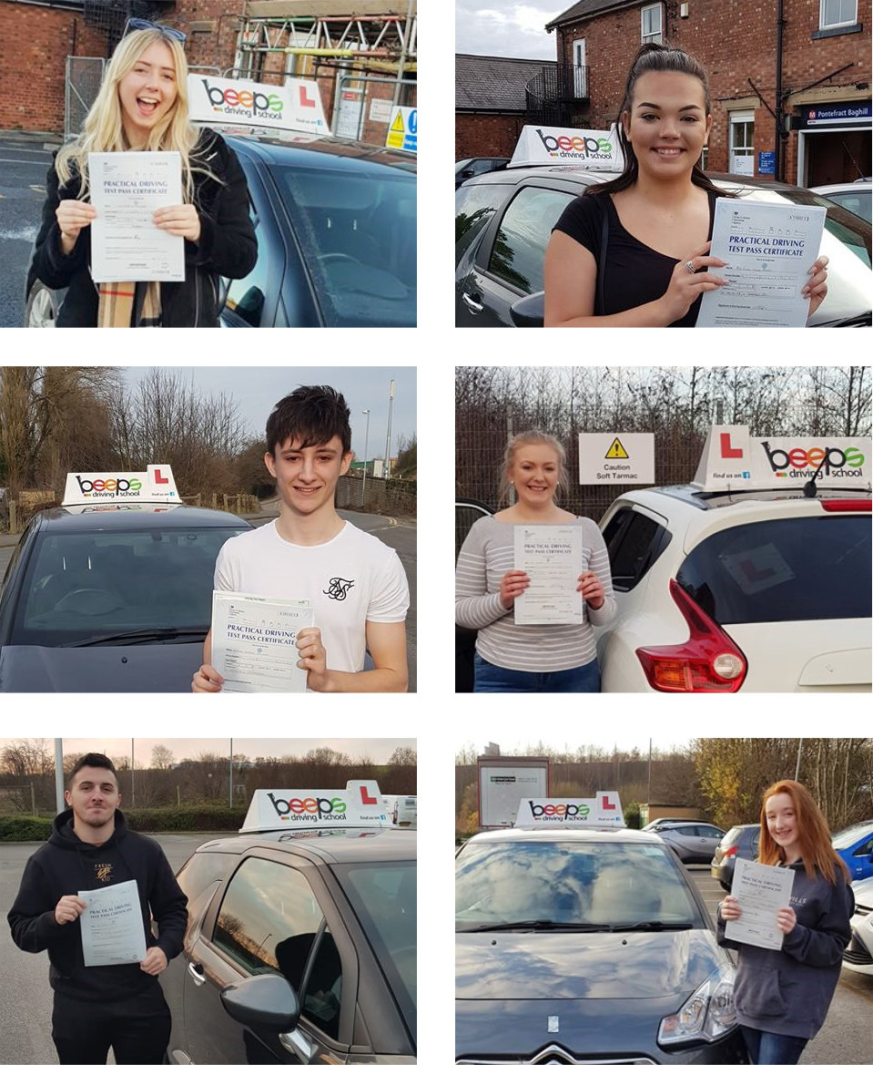 Succesful driving test customers